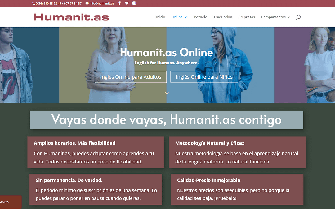 Inglés Online para Humanos | Método Natural y Comunicativo por Videoconferencia
