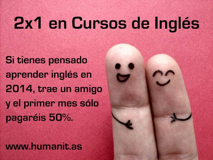 2×1 en Cursos de Inglés en Humanit.as Pozuelo
